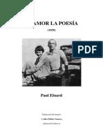 El Amor La Poesia-paul Eluard