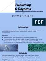 biodiversity six kingdom google slide project - samantha williams