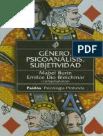 Mabel Burin, Emilce Dio Bleichmar (Comps) - Genero, Psicoanalisis, Subjetividad