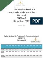 Venezuela cerró el año 2017 con una inflación acumulada del 2.616 %