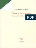 1975 1976. Derrida Theorie Et Pratique Cours de Lensulm