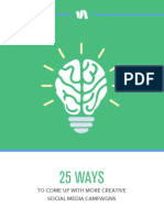 25 Ways to Create More Creative Social Media Campaigns