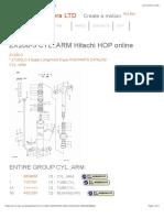 ZX200-3 CYL.;ARM Hitachi HOP online | Part catalog