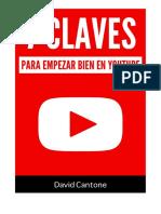 7 Claves Para Empezar Bien en YouTube