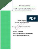 Métier Et Formation TER TSGE M01