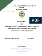 Bid Document for Computer Printer Etc SLN MC 2017