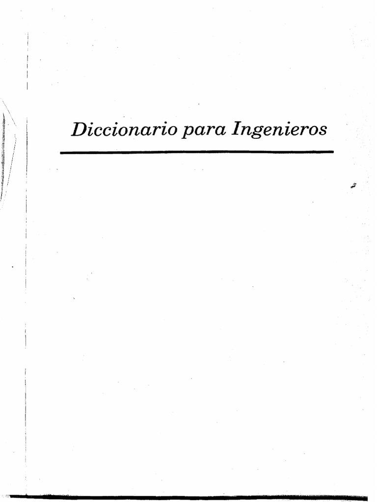 diccionario para ingenieros steel dictionary
