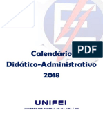 calendario unifei 2018
