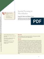 Inertial focusing in microfluidics
