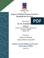 Impact of Indian Drama Serial in Bangladeshi Society