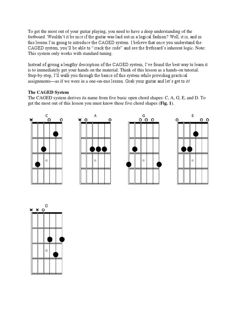 The Guitarists Guide To The Caged System Guitars Necked Lutes