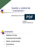 Planificacion y Control de Inventarios I