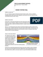 Seismic Testing FAQ