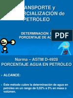 Astm D-4928 Porcentaje de Agua