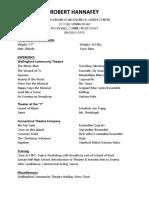 Robert Hannafey's resume (as of 1/8/18)