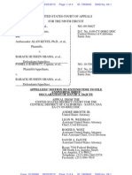 BARNETT v OBAMA (APPEAL - 9th CIRCUIT - 24 - Appellees' Motion for Extension to File Response Brief - Transport Room