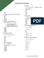 Miscelánea de Álgebra21