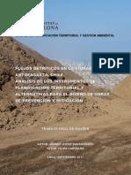 FLUJOS DETRÍTICOS EN LA CIUDAD DE ANTOFAGASTA, CHILE. ANÁLISIS DE LOS INSTRUMENTOS DE PLANIFICACIÓN TERRITORIAL Y ALTERNATIVAS PARA EL DISEÑO DE OBRAS DE PREVENCIÓN Y MITIGACIÓN