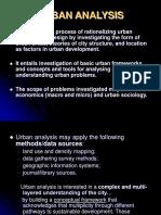 URBAN Planning and Analysis