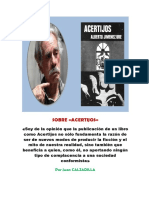 Juan Calzadilla Sobre Acertijos (1979)
