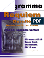 Programmaboekje Duruflé