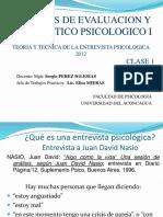 Técnicas I-Entrevista Psicológica Clase 1-2º Año -2012