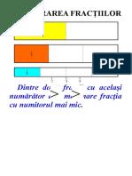 COMPARAREA FRAC¦IILOR 1