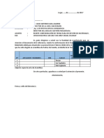 Modelo Sugerido de Oficio Para TERNA MATERIALES IIEE
