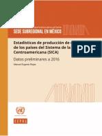 Estadísticas de Producción de Electricidad de Los Países Del SICA_datos Preliminares a 2016