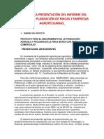 Guía Para La Presentación Del Informe Del Proyecto de Planificación de Fincas y Empresas Agropecuarias (1)