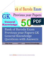 Bank of Baroda Exam GK Quiz (1)