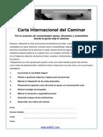 Carta Internacional Del Caminar