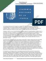 La Academia Mexicana de La Lengua