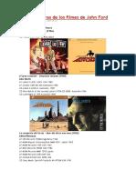 Bandas Sonoras de Los Filmes de John Ford
