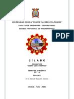 Sílabo Diseño Pavimentos UANCV 2017-II