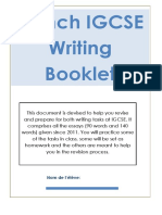 CIE IGCSE Writing Booklet