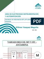 Presentacion de Variadores de Velocidad de MT y BT Utilizados en Antamina