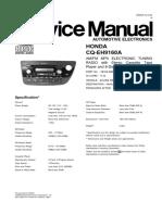 Honda Radio Service Manual