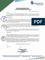 Directiva de Austeridad 2018