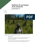 El Último Hablante de Una Lengua Ancestral de La Amazonía