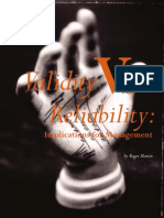 Pages From Validity and Reliability Only