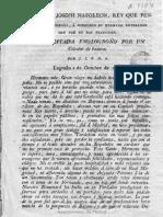 Carta de José Bonaparte a Napoleón Bonaparte