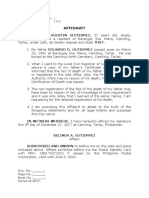 AFFIDAVIT - Gutierrez (Fact of Death)