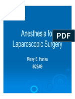 Anesthesia for Laparoscopic Surgery