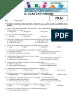 Soal PKN Kelas 3 SD Bab 3 Harga Diri Dan Kunci Jawabannya