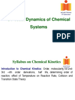 Chemical Kinetics Lecture 1 2
