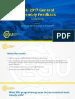 EGU2017 Survey Results