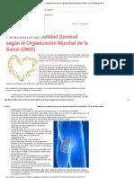 Parámetros de Calidad Seminal Según La Organización Mundial de La Salud (OMS)