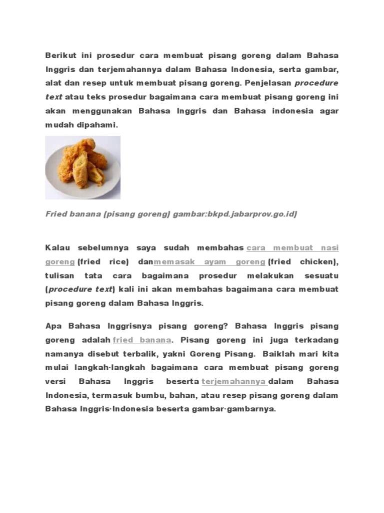 Resep Masakan Indonesia Menggunakan Bahasa Inggris Jp Media123