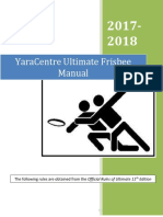 Ultimate Frisbee Manual 2017 2018